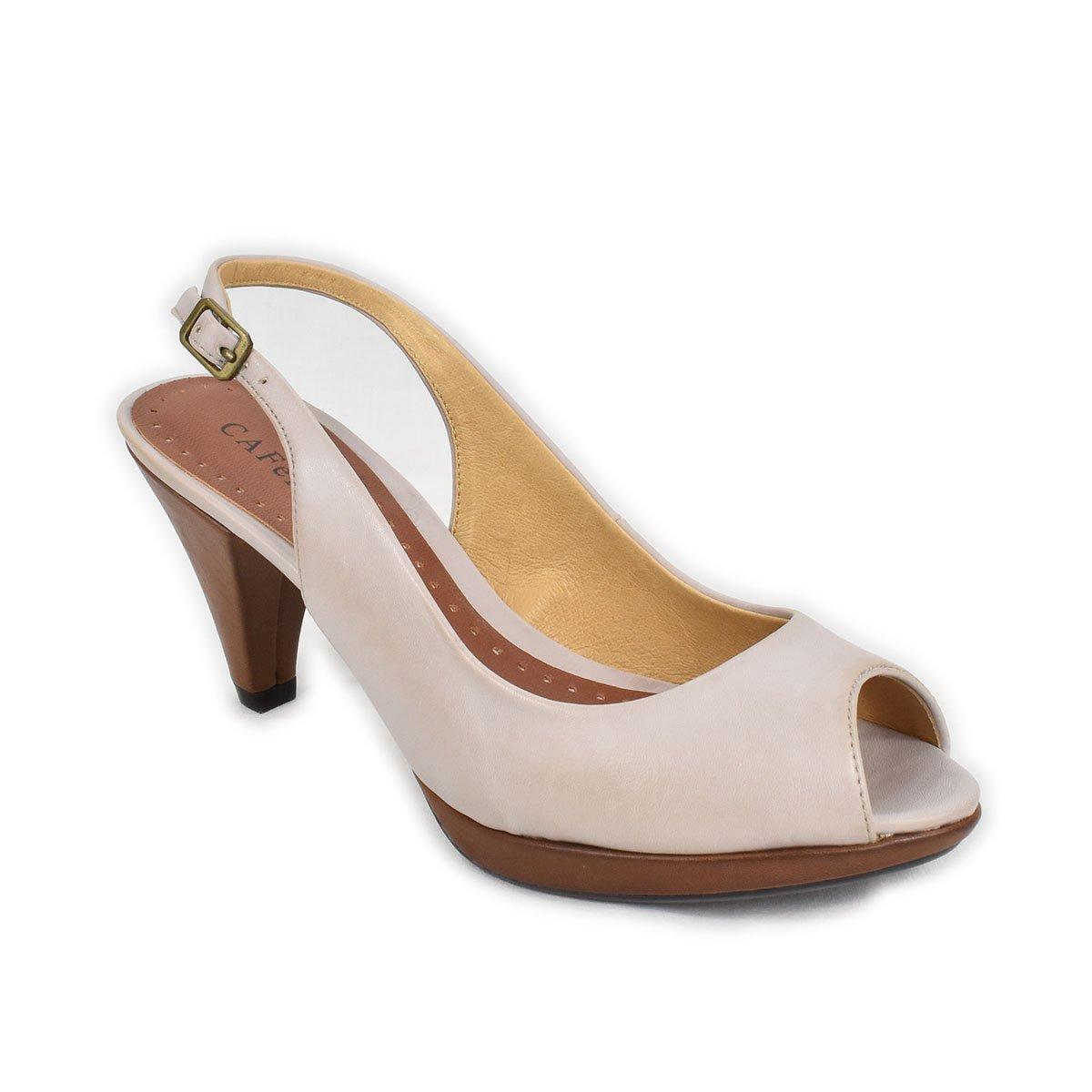 Sandali grigi pietra e marrone - CafèNoir WNE005
